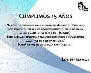 Tarjeta Invitación 15 Años Instituto Palacios